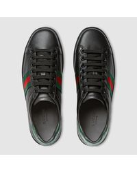 Gucci - Red New Ace Sneaker - Lyst