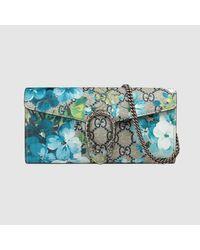e44e6c10b347 Gucci Dionysus Blooms Print Mini Chain Bag in Blue - Lyst