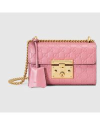 6ade9c71d97 Lyst - Gucci Padlock Signature Leather Shoulder Bag