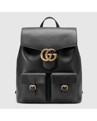 Gucci Multicolor Gg Marmont Leather Backpack