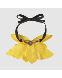 Gucci - Yellow Flower Necklace In Colored Resin - Lyst