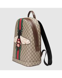 Gucci Multicolor Web Animalier Backpack With Bee for men
