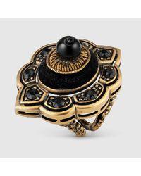 Gucci - Metallic Pin Cushion Motif Ring In Metal - Lyst
