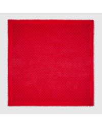 Lyst - Gucci Ghost Modal Silk Shawl in Red for Men b8476119f71