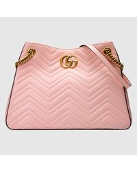 96b28b7232f Lyst - Gucci GG Marmont Matelassé Leather Shoulder Bag