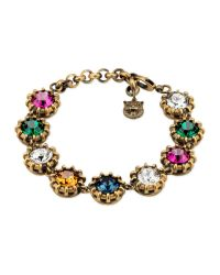 Gucci | Metallic Bracelet With Crystals | Lyst