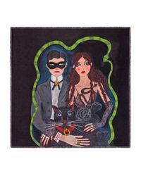 Gucci - Multicolor Unskilled Worker Silk Scarf - Lyst