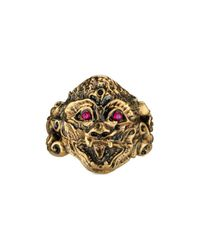 Gucci | Metallic Monkey Head Ring | Lyst