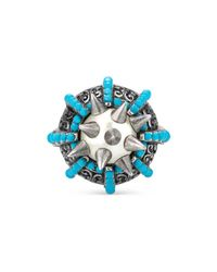 Gucci | Gray Ring With Spikes And Beads | Lyst