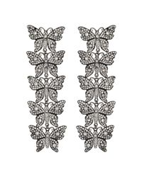 Gucci - Metallic Crystal Studded Butterfly Earrings - Lyst