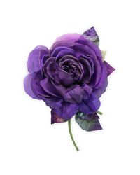 Gucci - Purple Flower Brooch In Silk And Cotton - Lyst