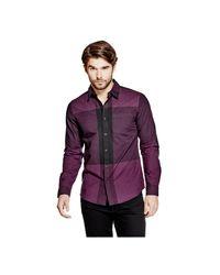 Guess   Purple Sequoia Plaid Shirt for Men   Lyst