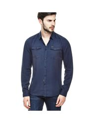 Guess | Blue Shirt With Pockets for Men | Lyst