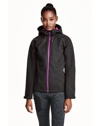 H&M - Black Softshell Jacket - Lyst