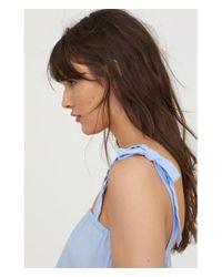 H&M - Blue Sleeveless Dress - Lyst