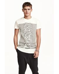 H&M | Gray Printed T-shirt for Men | Lyst