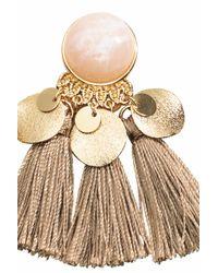 H&M | Metallic Earrings With Tassels | Lyst