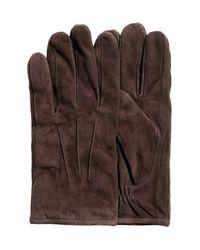 H&M | Brown Suede Gloves | Lyst