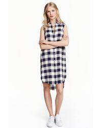 H&M | Natural Sleeveless Shirt | Lyst