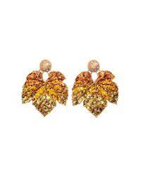 H&M   Metallic Large Earrings   Lyst