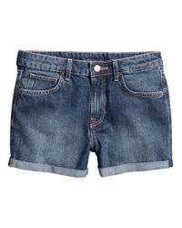 H&M | Blue Denim Shorts | Lyst