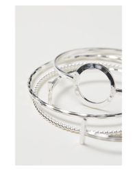 H&M - Metallic 4-pack Bangles - Lyst