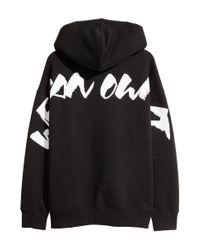 H&M - Black Oversized Hooded Top for Men - Lyst