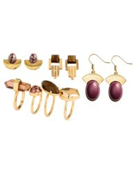 H&M | Metallic Earrings And Rings | Lyst