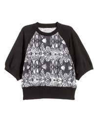 H&M   Gray Patterned Jumper   Lyst