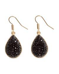 H&M | Black Tear-shaped Earrings | Lyst