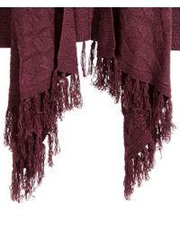 H&M - Purple Fringed Cardigan - Lyst