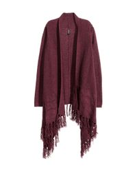 H&M | Purple Fringed Cardigan | Lyst