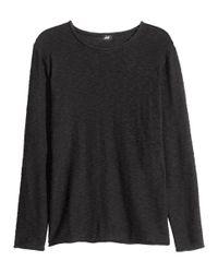 H&M - Black Knitted Jumper for Men - Lyst