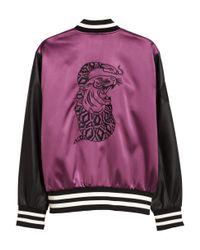 H&M - Purple Padded Baseball Jacket for Men - Lyst