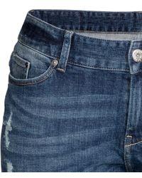 H&M | Blue Lyocell Denim Joggers | Lyst