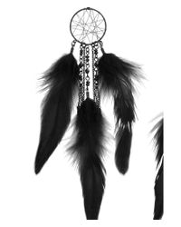 H&M - Black Earrings With Feathers - Lyst
