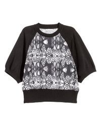 H&M - Gray Patterned Jumper - Lyst