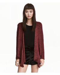 H&M | Red Draped Cardigan | Lyst