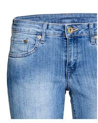 H&M - Blue Super Skinny Low Jeans - Lyst