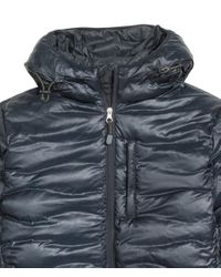 H&M - Blue Down Jacket With A Hood for Men - Lyst