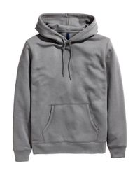 H&M | Gray Hooded Top for Men | Lyst