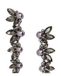 H&M - Metallic Long Earrings With Beads - Lyst
