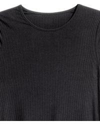 H&M - Black + Long-sleeved Top - Lyst