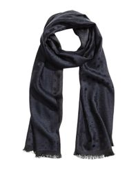 H&M - Blue Spotted Scarf - Lyst