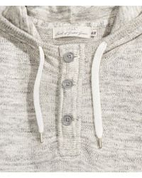 H&M | Gray Knitted Hooded Jumper | Lyst