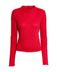 H&M | Red Rib-knit Jumper | Lyst