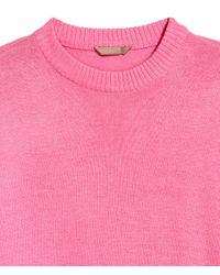 H&M - Pink + Fine-knit Jumper - Lyst