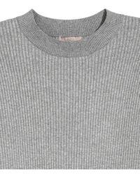 H&M | Gray + Ribbed Jumper | Lyst