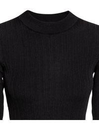 H&M - Black Rib-knit Jumper - Lyst