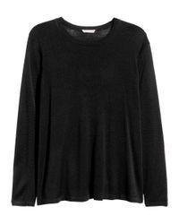 H&M | Black + Fine-knit Jumper | Lyst